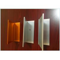 Wood Grain Aluminum Railing Profiles , Engineering Aluminium Profile For Kitchen Cabinets