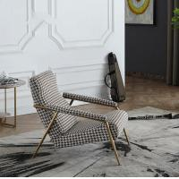 Buy cheap Modern Design Leisure Stainless Steel Swallow Gird upholstery Arm chair Lounge chair for Hotel Living room product