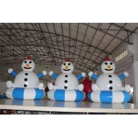 Buy cheap Airtight PVC Customized Inflatable Snowman Decorations Easy To Clean product