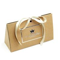 Buy cheap Fancy Triangle Gift Box With Logo Hot Stamped And Ribbon Attached product