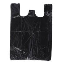 China Black Color 60 Gallon Biohazard Garbage Bags Replacement Side Gusset Bag Biodegradable on sale