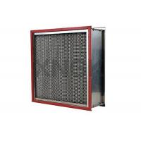China Waterproof High Temperature HEPA Filters 0.3 Micron Aluminum Alloy Frame on sale