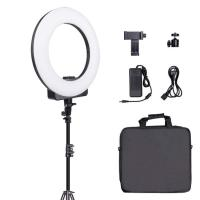 """Buy cheap TRIOPO 18"""" inch Makeup Selfie Video Diva LED Photographic Ring Light with Phone Camera Holder For Youtube product"""