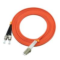 Buy cheap 850 Wavelength Optical Fiber Patch Cord 3 Ft LC To ST Duplex 62.5 / 125um OM2 product