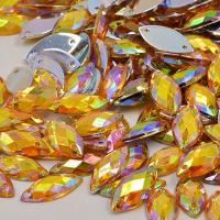 Buy cheap Glass Material Sew On Rhinestones 14 Facets Extremely Shiny For Dresses / from wholesalers