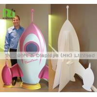 Buy cheap Cardboard Standee Display Stand Funny Rocket Shape POS Retail Hanging Display product