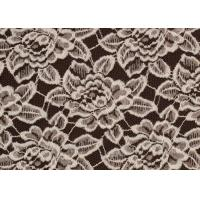 Quality OEM / ODM Customied Brushed Floral Lace Fabric By The Yard Anti-Static CY-LQ0006 for sale