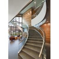 Buy cheap Aluminum glass channel  staircase balustrade product