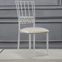 Buy cheap Steel Event Rent Wedding Dining Restaurant Cafe Chairs in White product