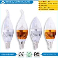 China 360°Led Candle Lights,3w E14 Led Candle Bulb Milky With Heat Dissipation on sale