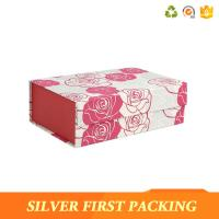Buy cheap Silver First custom printing decorative magnet book shaped cardboard gift box product