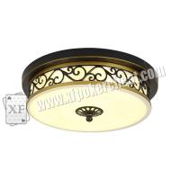 Buy cheap Glass Material Modern Ceiling Light Hidden Camera For Long Distance Infrared Playing Card Scanner product