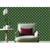 Buy cheap Embossed Pvc Contemporary Wall Coverings , Four Leaf Home Floral Wallpaper For Walls from wholesalers