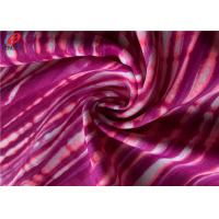 China Antistatic Nylon Spandex Fabric Lycra Stripe Printed Fabric For Bikini on sale