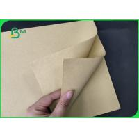Buy cheap FSC 80g 250gsm 350gsm Natural Brown Color Kraft Paper Rolls Eco - Friendly product