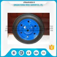 Buy cheap Anti Skiddingsolid Rubber Wheelbarrow Wheels 20mm Bearing Hole Easy Installation product