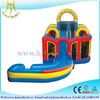 China Hansel 2017 hot selling commercial PVC outdoor inflatable water slides for rent slide on sale
