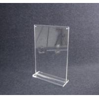 Buy cheap COMER A4 acrylic tabletop holder menu display stand clear lucite with alarm display system product