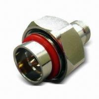Buy cheap Coaxial Connector with 7/16 Plug to N Jack Adapter and Brass/Nickel Body product