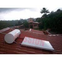 Buy cheap 100L 150L White Tank Solar Powered Water Heater Blue Film Coating Solar Collector product