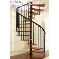Buy cheap Woonden Spiral Staircase Wrought Iron Fence product