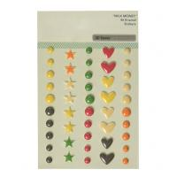 Buy cheap Heart Colorful Drops 3D Epoxy Crystal Stickers Dots Color 1.2mm Thick Mark Labels product