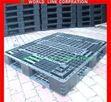 Двойные бортовые штабелируя паллеты сетки используемые пластмассой
