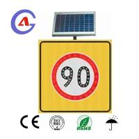 China 3M reflective film led solar speed limit sign for turkey market on sale