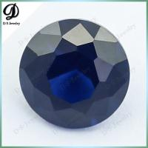 Buy cheap Лаборатория отрезка 34# ААААА качественная свободная круглая голубая создала сапфир product
