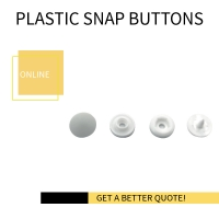 Buy cheap Disposable Gown White Plastic Snap Button product