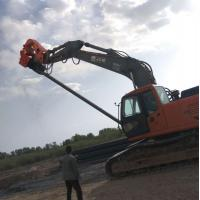 China Hydraulic Vibratory Sheet Pile /350mm Prefabricated photovoltaic pile /wooden Driver on sale