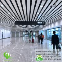Buy cheap Aluminum ceiling tile strip ceiling for interior and exterior powder coated white fireproof product