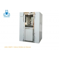 Buy cheap One Person Mirror SS304 Air Shower Room With UV Light product