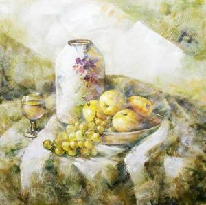 Stilllifeの油絵のキャンバス