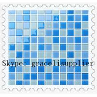 Buy cheap 4mm thickness high quality glass mosaic for swimming pool title product