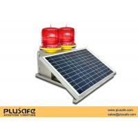 China Solar Red LED Solar Obstruction Light Medium Intensity  Double Red Night Flashing By Turn on sale