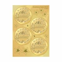 China 2 Diameter Gold Foil Seals , Professional Gold Seal Stickers For Certificates on sale