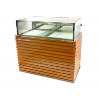 Buy cheap Wood / Stainless Steel Base Glass Cake Refrigerator Showcase / Pastry Display Cabinet from wholesalers