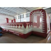 Buy cheap 72 Square Meters Inflatable Soccer Game , UV Resistance Inflatable Football Field product