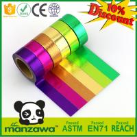 Buy cheap 1.5cm*10m multicolor washi tape customizable size adhesive paper tape tear by hand removeable paper tape product