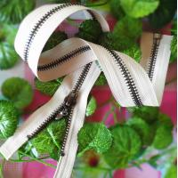 Buy cheap Antique Brass Metal Garments Zipper 5# Open End With Auto Lock Slider product
