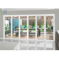 Buy cheap Heavy Duty Aluminium Folding Doors with Single / Double Tempered Glazing product