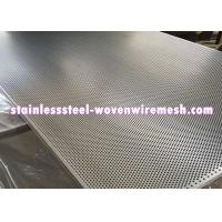 Buy cheap Stainless Steel Perforated Metal Sheet Round Hole High Temperature Oxidation Resistance product