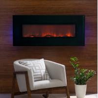 China led flame electric  fireplace wall mount TV heater modern  black  remote control 50 log fuel WF-1350 back lights on sale