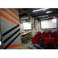 Buy cheap Acoustic Sliding Room Dividers , Cost Effective Office Partition Wall Vinyl Finish product