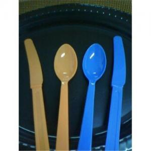 Vaisselle plate colorée jetable