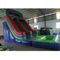 Buy cheap Dark Green Large Commercial Inflatable Water Slides / Bounce House With Slide product