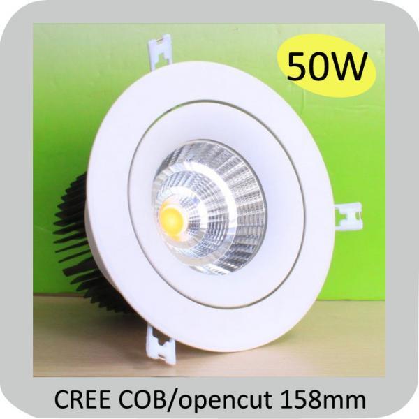 cree cob chip warm white led downlight 50w 102458142. Black Bedroom Furniture Sets. Home Design Ideas