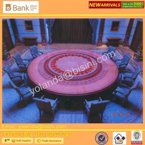 Buy cheap (BK0109-0016T) Tableau rond impérial fantastique et mystérieux de Dinning de pourpre royal, chaises nobles du bleu 12 de saphir, superbes product