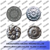 China Cast Steel Rosettes,Cast Steel Panels for Gate and Railings,Wrought Iron Ornaments on sale